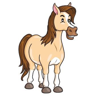 Cartone animato carino di cavallo