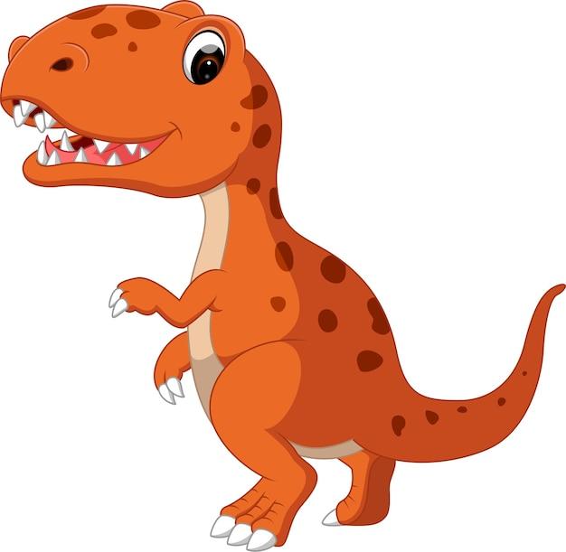 Cartone animato carino dinosauro