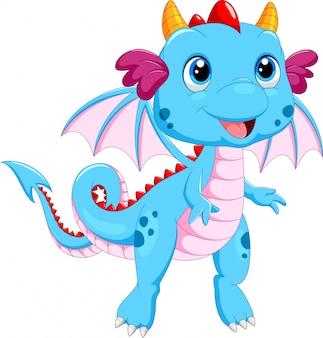 Cartone animato carino drago