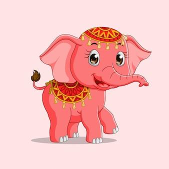 Cartone animato carino elefante