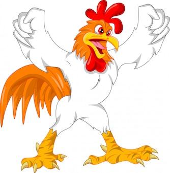 Cartone animato carino gallo
