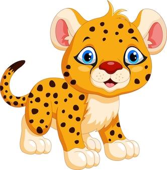 Cartone animato carino ghepardo