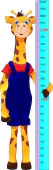 Cartone animato carino giraffa