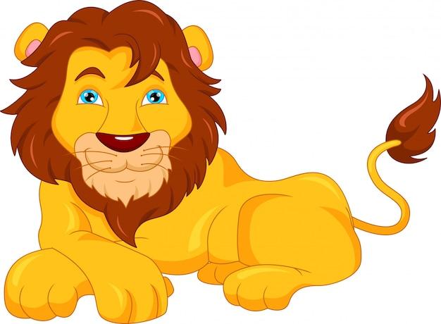 Cartone animato carino leone