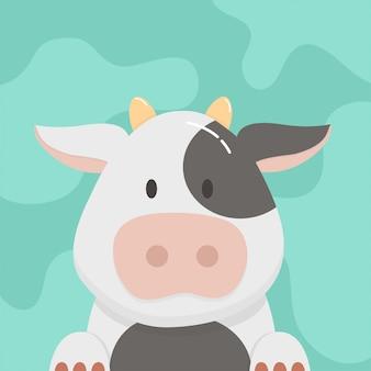 Cartone animato carino mucca
