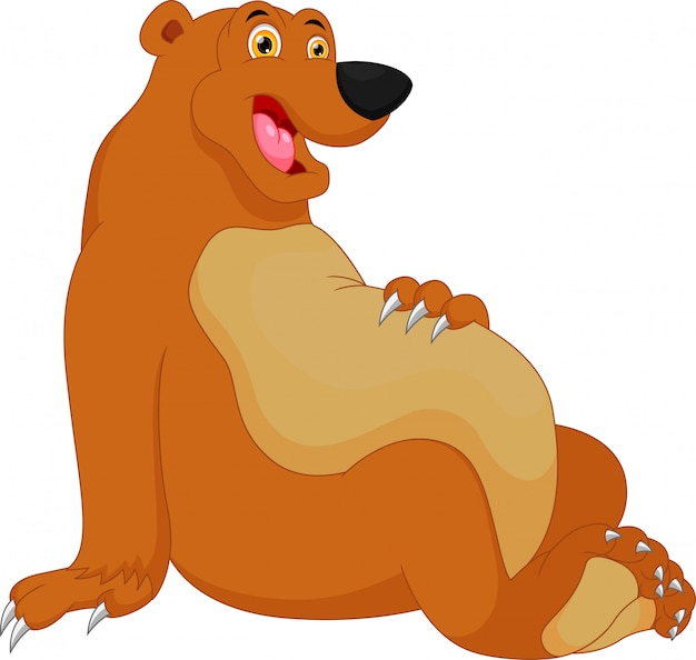 Cartone animato carino orso
