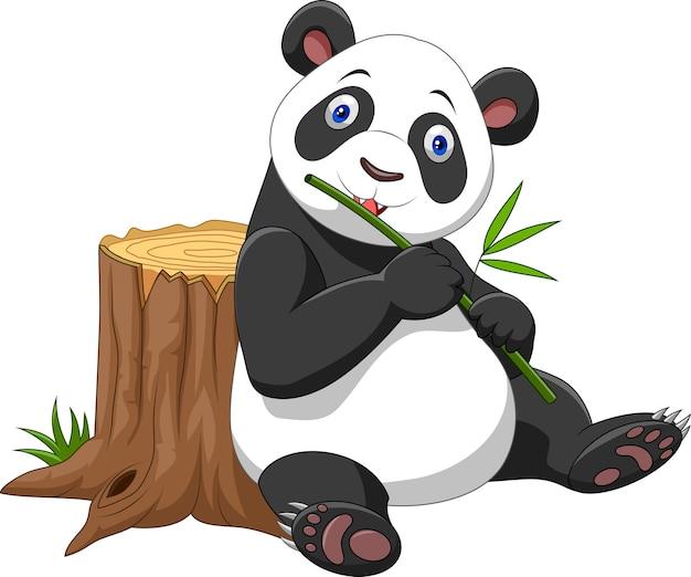 Cartone animato carino panda