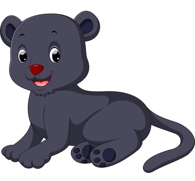 Cartone animato carino pantera nera