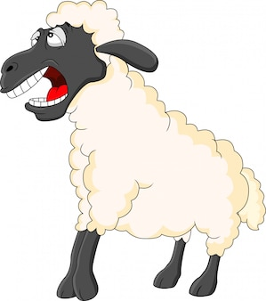 Cartone animato carino pecora