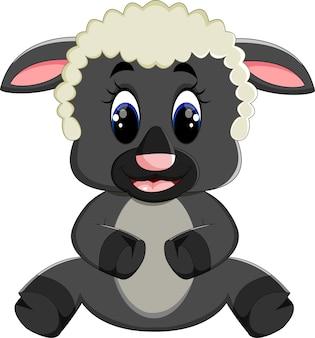 Cartone animato carino pecore