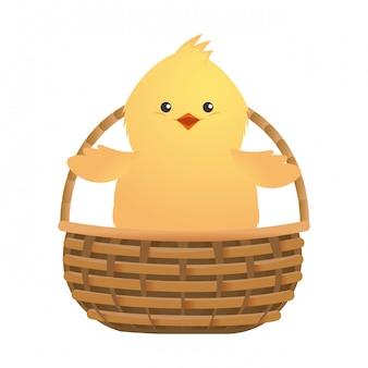 Cartone animato carino pollo