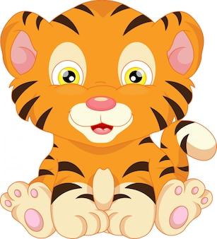 Cartone animato carino tigre del bambino