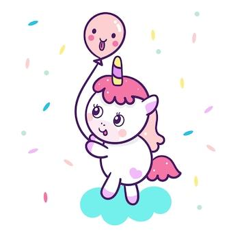 Cartone animato carino unicorno
