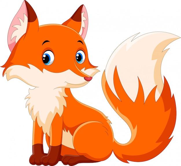Cartone animato carino volpe