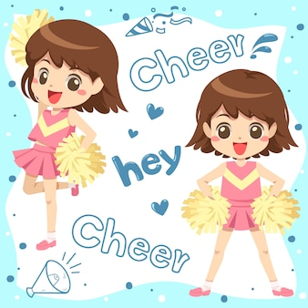 Cartone animato cheerleader