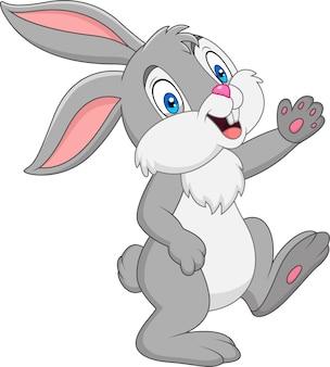 Cartone animato coniglio felice
