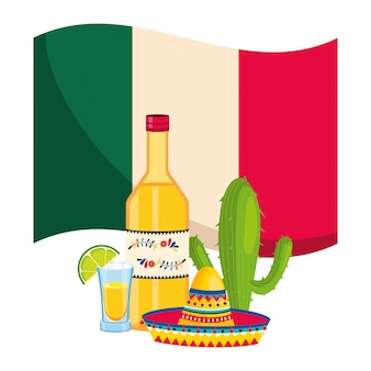 Cartone animato cultura messicana