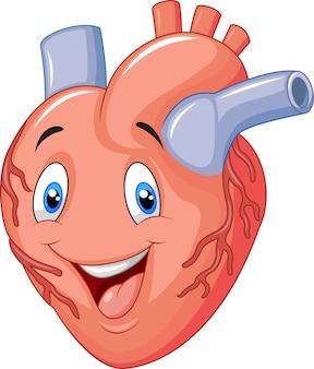 Cartone animato cuore felice
