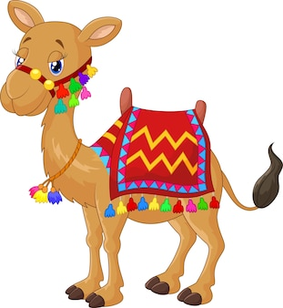 Cartone animato decorato cammello