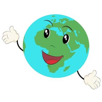 Cartone animato del globo terrestre