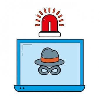 Cartone animato del sistema di sicurezza