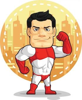 Cartone animato del supereroe