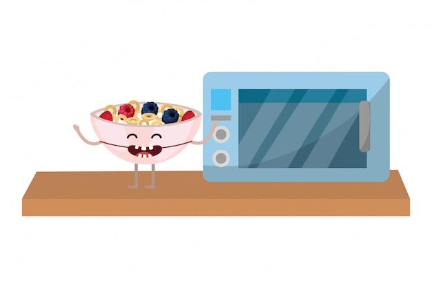 Cartone animato delizioso cibo gustoso