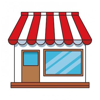 Cartone animato dello shopping store