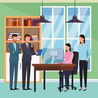 Cartone animato di affari esecutivi