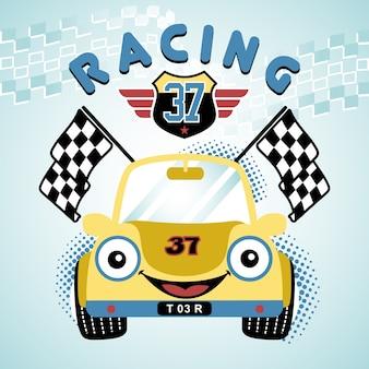 Cartone animato di auto da corsa