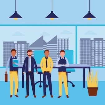 Cartone animato di avatar di uomini d'affari
