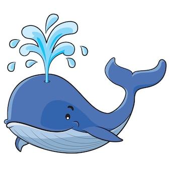 Cartone animato di balena