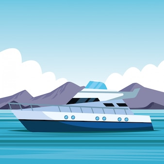 Cartone animato di barca