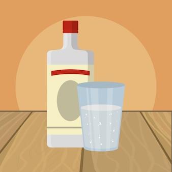 Cartone animato di bevanda alcolica