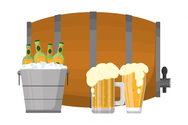 Cartone animato di bevande alcoliche