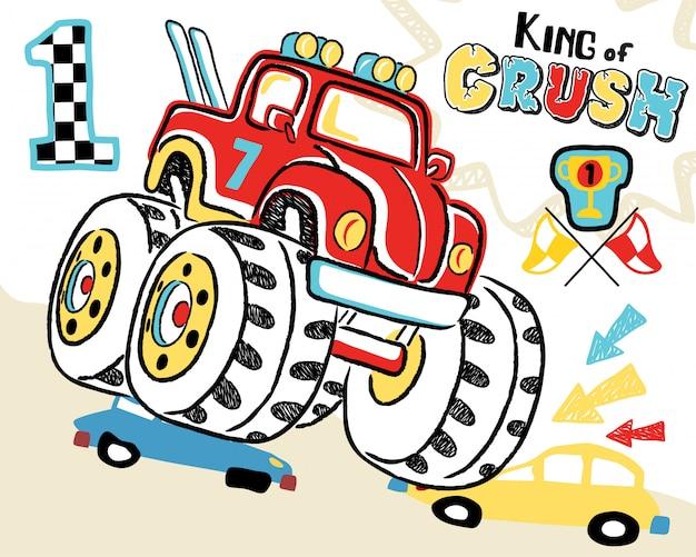 Cartone animato di camion mostro