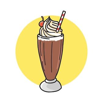 Cartone animato di cioccolato galleggiante