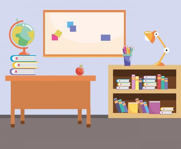 Cartone animato di classe studio scuola