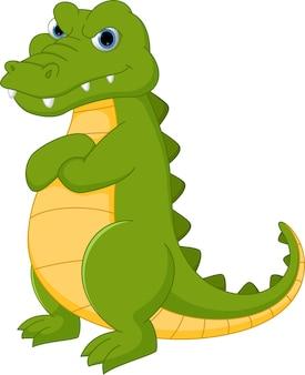 Cartone animato di coccodrillo arrabbiato