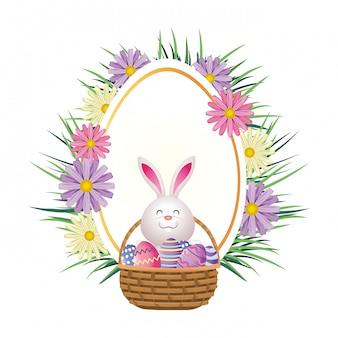 Cartone animato di coniglio di pasqua