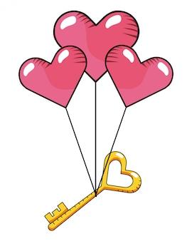 Cartone animato di cuore amore