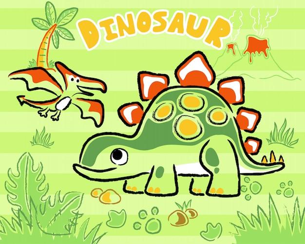 Cartone animato di dinosauri