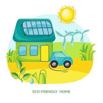 Cartone animato di ecologia
