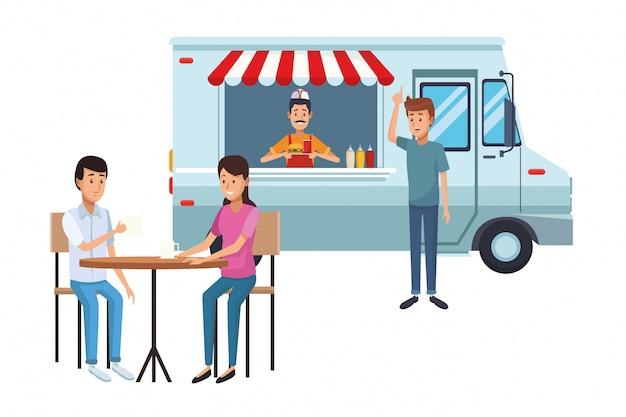 Cartone animato di fast food