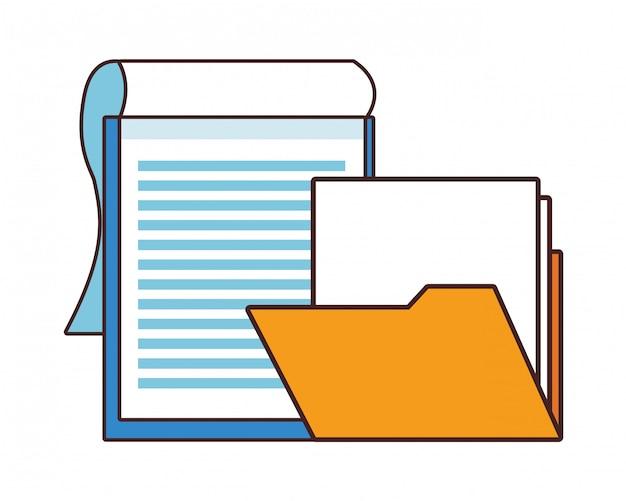 Cartone animato di fogli di carta dei documenti