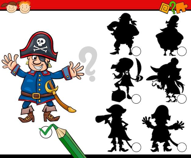 Cartone animato di gioco silhouette educazione