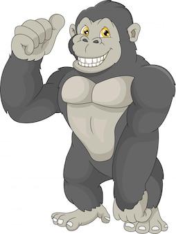 Cartone animato di gorilla bambino