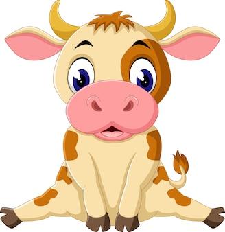 Cartone animato di mucca
