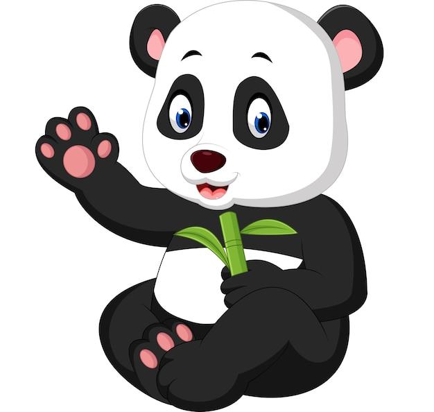 Cartone animato di panda del bambino
