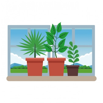 Cartone animato di piante